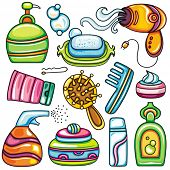 stock photo of personal care  - Icon set hygiene accessories - JPG