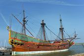 picture of galleon  - Replica of a old Dutch galleon the VOC Batavia - JPG