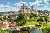 Sigmaringen Castle In Summer, Baden-wurttemberg, Germany. This Beautiful Castle Is A Landmark Of Swa poster