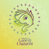 Beautiful Lord Ganesha Figure In Creative Style poster