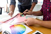 Graphic Designers Choose Pink Tones From The Color Bands To Design Ideas, Creative Designs, Graphic  poster