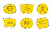 Timer, Education And Good Mood Signs. Chat Bubbles. Clock, Loyalty Points And Safe Time Line Icons S poster