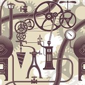 stock photo of manometer  - Elements of a steam engine - JPG