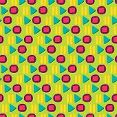Media Player Colorful Button Flat Seamless Pattern poster