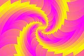 Infinite Geometry Fractal Background Of Spiral Jigsaw Puzzle poster