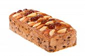 Fruitcake Isolated On A White Background