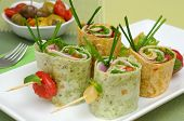 Vegetable Wrap Brochettes