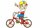 Boy Riding A Bicycle