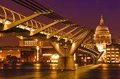 London Landmark Millenium Bridge poster