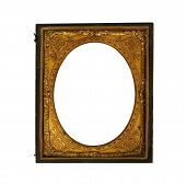 picture of keepsake  - vintage Daguerreotype picture frame on a white background - JPG