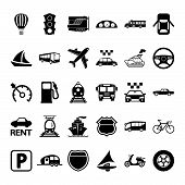 stock photo of railroad-sign  - Transportation icon set - JPG
