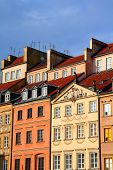image of tenement  - Warsaw Poland - JPG