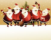 foto of letters to santa claus  - Christmas background with Santa Claus   - JPG