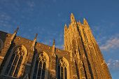 picture of duke  - It is a chapel located at the center of the campus of Duke University in Durham - JPG