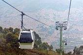 picture of medellin  - View of cable car high above Medellin Colombia - JPG
