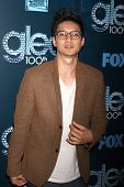 LOS ANGELES - MAR 18:  Harry Shum Jr at the GLEE 100th Episode Party at Chateau Marmont on March 18,