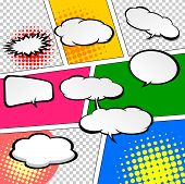 stock photo of crunch  - Comic Speech Bubble - JPG