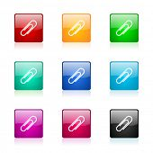 paperclip web icons set