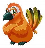 picture of angry bird  - Illustration of a scary - JPG