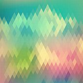 stock photo of rhombus  - Abstract Rhombus Background - JPG