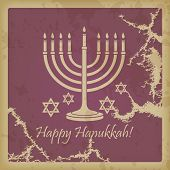 picture of hanukkah  - Happy Hanukkah vintage background with space for text - JPG