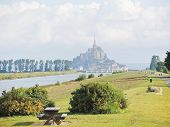 stock photo of mont saint michel  - scenery with mont saint - JPG