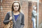 pic of she-male  - Teenage Girl Feeling Intimidated As She Walks Home - JPG