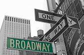stock photo of broadway  - Street signs for Broadway in Manhattan  - JPG