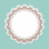 pic of lace  - Seamless lace paper napkin  - JPG