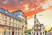 Постер, плакат: Church Of Saint etienne du mont 1494 1624 In Paris Near Pantheon