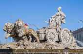 stock photo of ceres  - The fountain of Cibeles named after Cybele  - JPG