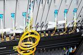 image of telecommunications equipment  - Telecommunication equipment optical multiplexor in a datacenter of mobile operator - JPG
