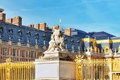 stock photo of versaille  - Main entrance of Versailles Palace Versailles France - JPG