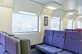 stock photo of high-speed train  - Interior of the empty high-speed train .