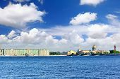 picture of winter palace  - View Winter Palace in Saint Petersburg from Neva river - JPG
