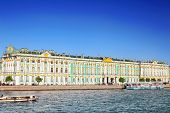 stock photo of winter palace  - View Winter Palace in Saint Petersburg from Neva river - JPG