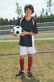 picture of 13 year old  - A soccer player on the play field - JPG