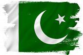 image of pakistani flag  - Pakistan flag backdrop background texture isolated on white - JPG