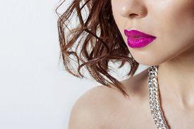 picture of big lips  - big beautiful sexy sensual girl - JPG