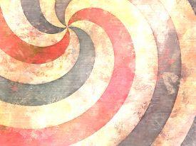 foto of hypnotic  - hypnotic swirl painting in vintage used style - JPG