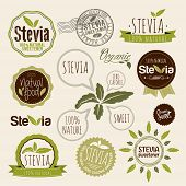 picture of food label  - Stevia and Organic food label Set - JPG