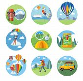 picture of parachute  - Happy peoples plans with parachute - JPG