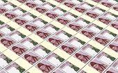 picture of won  - Korean won bills stacks background - JPG