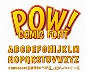foto of alphabet  - Creative high detail comic font - JPG
