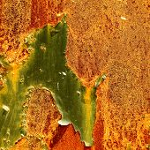 stock photo of peculiar  - Old rusty steel metal texture background with heavy rust - JPG