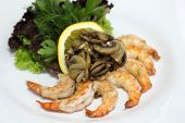 pic of soy sauce  - Delicious shrimp served with soy sauce - JPG