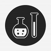 stock photo of beaker  - Experiment Beaker Icon - JPG