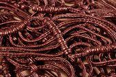 image of macrame  - Macrame leather belts close up as background - JPG