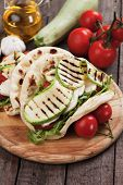 foto of sandwich  - Piadina romagnola - JPG