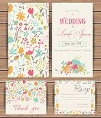 foto of greeting card design  - Floral vector card templates - JPG